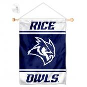 Rice Owls Window Hanging Banner with Suction Cup