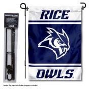 Rice University Garden Flag and Yard Pole Holder Set