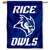Rice University New Owl Insignia House Flag