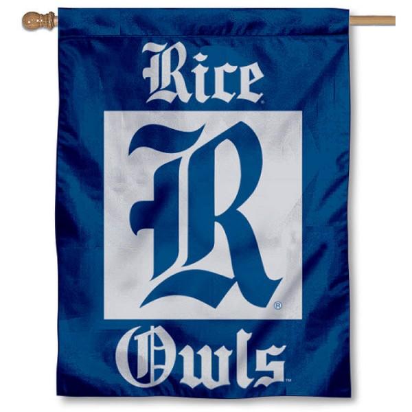 Rice University Owls House Flag