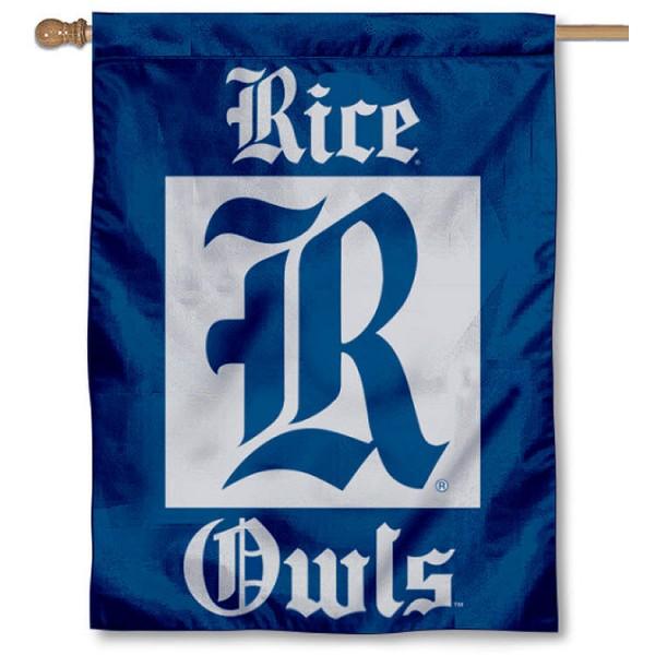 Rice University Owls House Flag
