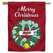 Rider Broncs Christmas Holiday House Flag