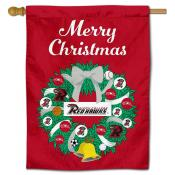 Ripon College Red Hawks Christmas Holiday House Flag
