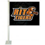 RIT Tigers Car Flag