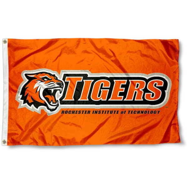 RIT Tigers Orange Logo Flag