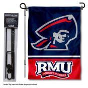 Robert Morris University Garden Flag and Yard Pole Holder Set