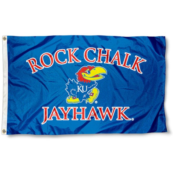 Rock Chalk Jayhawk Flag