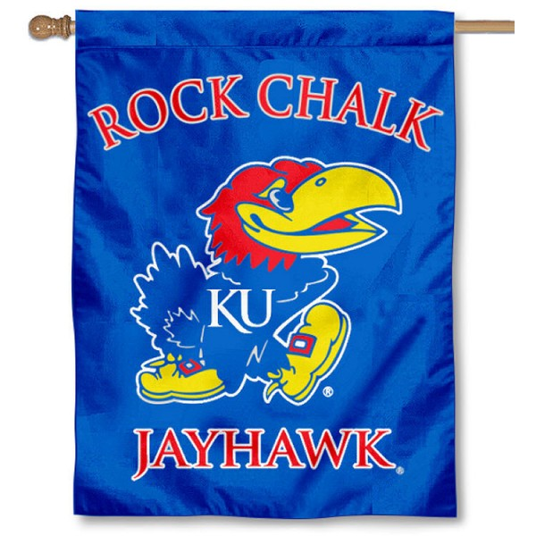 Rock Chalk Jayhawk House Flag