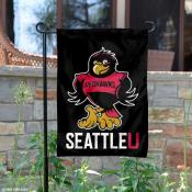 Rudy the Redhawk Garden Flag