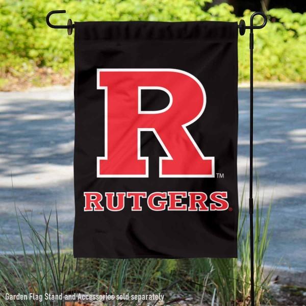 Rutgers Dual Logo Garden Flag