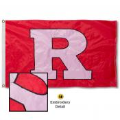 Rutgers Scarlet Knights Appliqued Sewn Nylon Flag