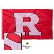Rutgers Scarlet Knights Appliqued Sewn Nylon Flag
