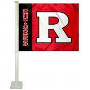 Rutgers Scarlet Knights Car Flag