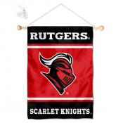 Rutgers Scarlet Knights Window Hanging Banner with Suction Cup
