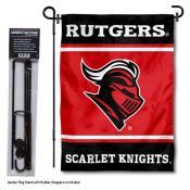 Rutgers University Garden Flag and Yard Pole Holder Set