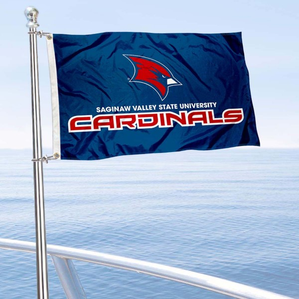 Saginaw Valley State Cardinals Boat Flag