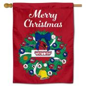 Saginaw Valley State Cardinals Christmas Holiday House Flag