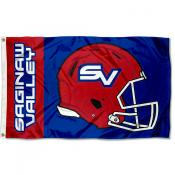 Saginaw Valley State Cardinals Helmet Flag