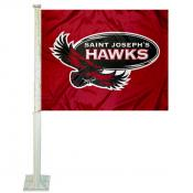 Saint Joseph's Hawks Car Flag