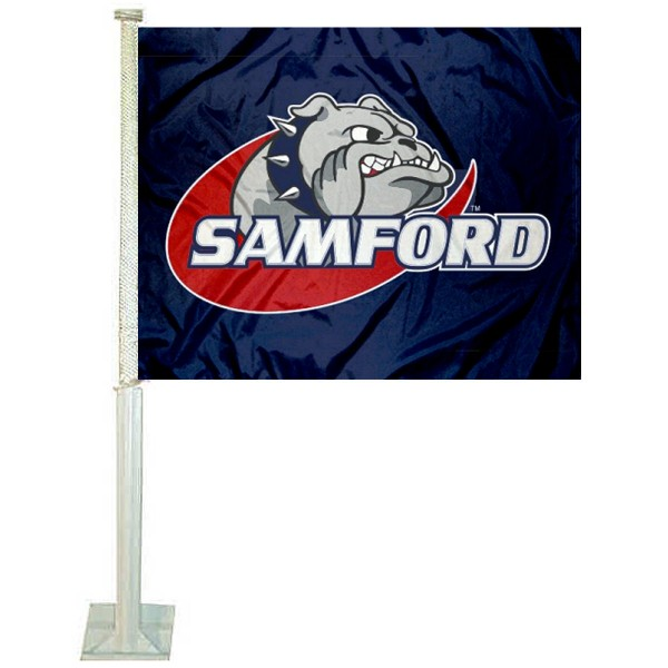 Samford SU Bulldogs Car Flag