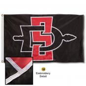 San Diego State Aztecs Appliqued Nylon Flag