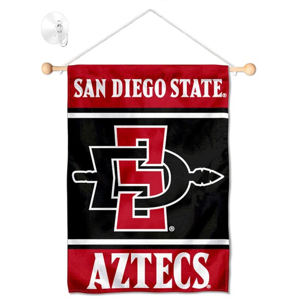 San Diego State Aztecs Window Hanging Banner with Suction Cup