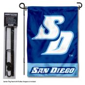 San Diego Toreros Garden Flag and Yard Pole Holder Set