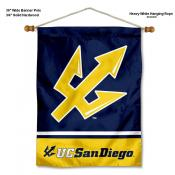 San Diego Tritons Banner with Pole