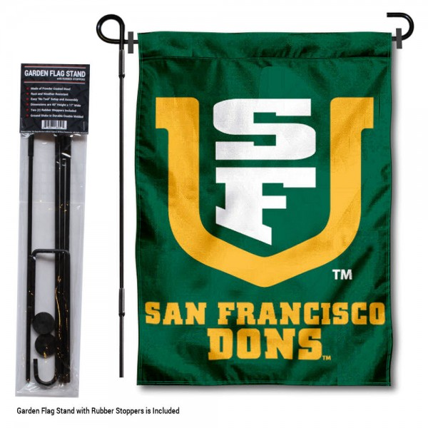 San Francisco Dons Garden Flag and Yard Pole Holder Set