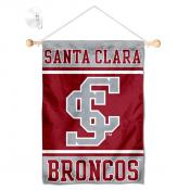 Santa Clara Broncos Window Hanging Banner with Suction Cup