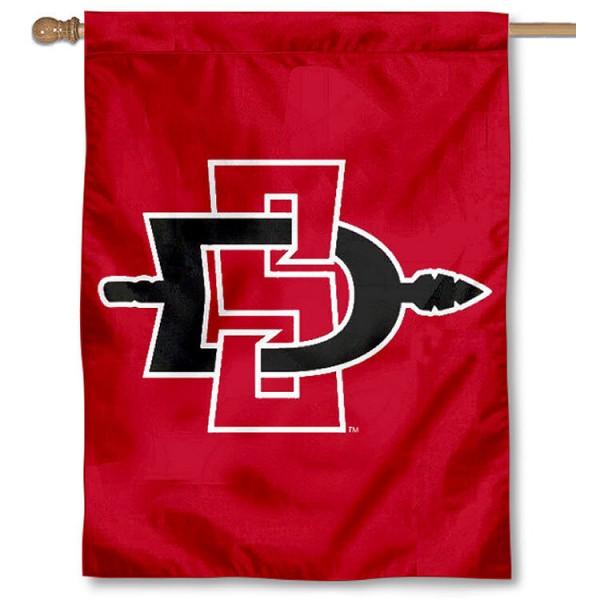 SDSU Aztecs Double Sided House Flag