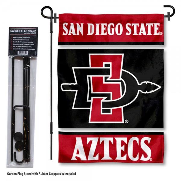 SDSU Aztecs Garden Flag and Holder