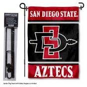 SDSU Aztecs Garden Flag and Holder
