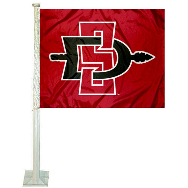 SDSU Aztecs Logo Car Flag