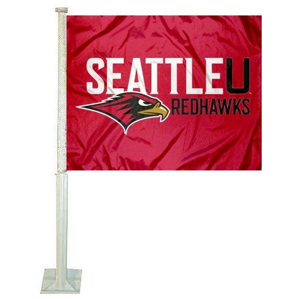 Seattle University Redhawks Car Flag
