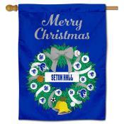 Seton Hall Pirates Christmas Holiday House Flag