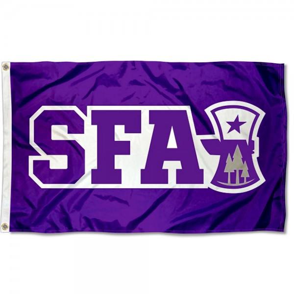 SFA Lumberjacks Axe Flag