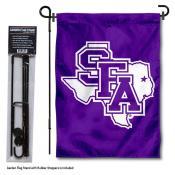 SFA Lumberjacks Garden Flag and Holder