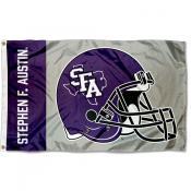 SFA Lumberjacks Helmet Flag