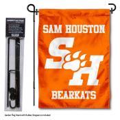 SHSU Bearkats SH Logo Garden Flag and Holder