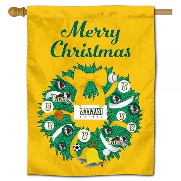 Siena Saints Christmas Holiday House Flag