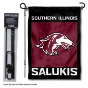 SIU Salukies Garden Flag and Holder
