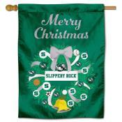 Slippery Rock Christmas Holiday House Flag