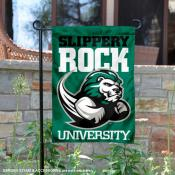 Slippery Rock University Two Sided Garden Banner