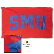SMU Appliqued Nylon Flag
