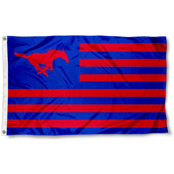 SMU Mustangs Nation Flag