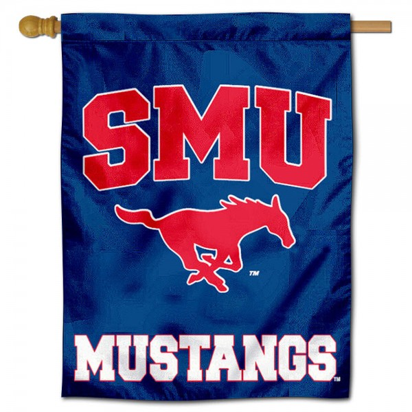 SMU Mustangs Polyester House Flag