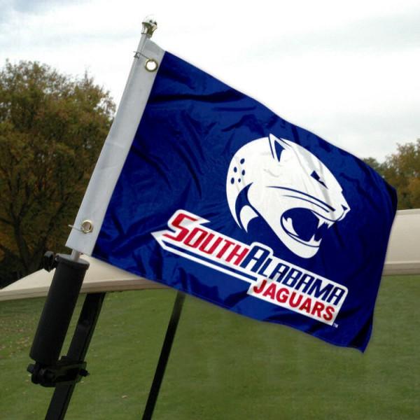South Alabama Jaguars Golf Cart Flag