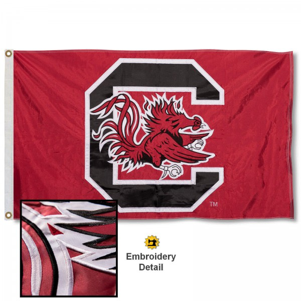 South Carolina Gamecocks Appliqued Nylon Flag