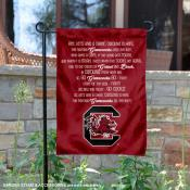 South Carolina Gamecocks Fight Song Lyrics Garden Banner